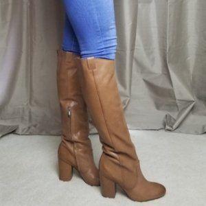 Sam Edelman 'Tucker' Tan Leather Knee Hi Boots 7.5